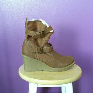 NEW Lane Bryant Boots Wedge Size 9w